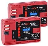 2X Baxxtar Pro Batterie de qualité Compatible avec Canon LP-E6 avec Info Chip -...