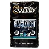 Fresh Roasted Coffee LLC, Black Knight Decaf Organic Coffee, Swiss Water Decaf, Artisan Blend, Dark Roast, Fair Trade, USDA Organic, Whole Bean, 2 Pound Bag