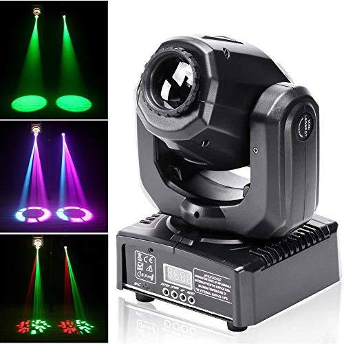 UKing LED Teste Mobili 50W Luce da Discoteca RGBW Luci DJ Auto Suono DMX Console 8 Gobo 8 Colori 9/11 Canale per Illuminazione DJ Serata di Festa