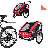 TIGGO World Convertible Jogger Remorque à Vélo 2 en 1, pour Enfants BT502-D01...