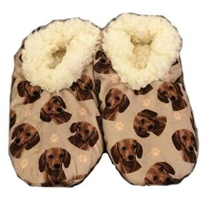 Dachshund Super Soft Womens Slippers – One Size Fits Most – Cozy House Slippers – Non Skid Bottom – perfect for Dachshund gifts