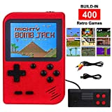 Handheld Game Console for Kids Adults, Retro Video Games Console with 400 Non-Repeating Classical FC Games 3.0 inch Color Screen Supporting 2 Players & TV Connection 800mAh Rechargeable Battery