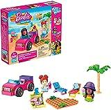 Avventura in spiaggia di Barbie con auto rosa e mattoncini LEGO compatibile