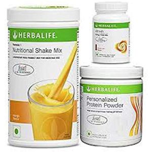 Herbalife Weight Loss Program Kit - Natural Organic Diet Meal Replacement Package for Men and Women - Nutritional Formula 1 Shake Mango - Herbal Protein Powder - Afresh Energy Drink Mix Lemon 4 - My Weight Loss Today