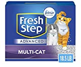 Fresh Step Advanced Multi-Cat Clumping Cat Litter with Odor Control - 18.5 lb (Package May Vary)