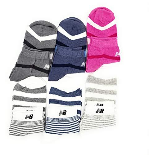 New Balance Calze Donna Corte In 80% Cotone Taglia Unica 35/40 Pack Da 6 Paia Calzini Donna Alla Caviglia Colori Assortiti alla moda (multicolore 22)