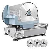 Sophinique Elektrischer Allesschneider, 3 bewegliche 7,5-Zoll Klinge einschließen, Geeignet für Käseschneidemaschine, Schnittstärke (0-15mm) Brotschneidemaschine,