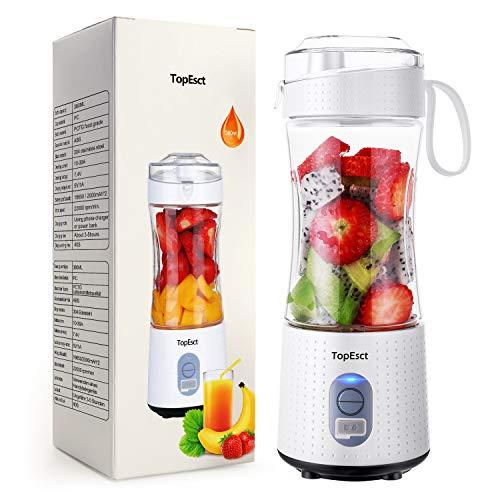 Mixeur portable, TopEsct mini mixeur, blender portable pour smoothies et...