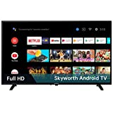 Skyworth S3G 32-Inch 720P HD Smart LED TV, Quad-CORE Android TV with Voice Control, Google Assistant Built-in, Also Work with Alexa