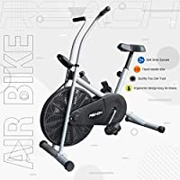 STEEL CONSTRUCTION Made with a durable steel frame, this unit showcases solid construction that is built to last. Maximum User Weight - 100 KG EASY INTERFACE - This stationary bike comes with a user-friendly tracker and an LCD that allows you to scan...