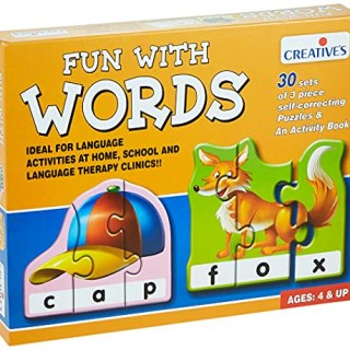 """""""Fun With Words"""" is a self-correcting Word Building Puzzle for children 4 years and above."""