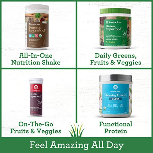 Amazing Grass Green Superfood: Super Greens Powder with Spirulina, Chlorella, Digestive Enzymes & Probiotics, Berry, 100 Servings 6
