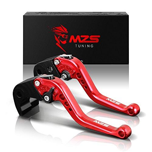 MZS 6段調整 ブレーキ クラッチ レバー 用 カワサキ 250TR 02-13年/ KL125D 10-14年/ KLX125 10-16年/ KLX150S 09-13年/ KLX250 08-16年/ Ninja250/ Ninja 250R 08-12年/ Ninja 300R EX300 13-18年/ Ninja 400 18-19年/ KLE300 17-19年/ Z125 pro 15-18年/ Z250 Z250SL/ Z300 15-18年 レッド