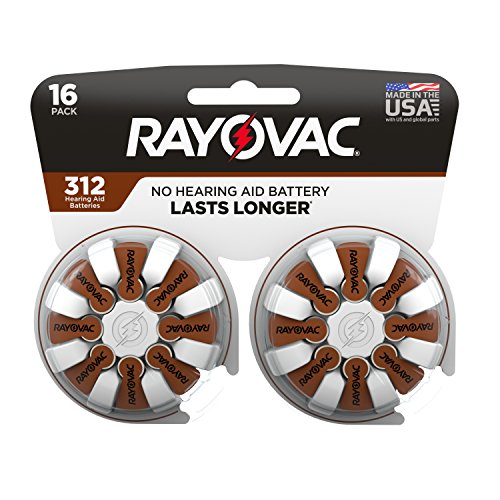 Rayovac Hearing aid Batteries Size 312 for Advanced Hearing aid Devices