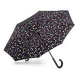 totes InBrella Reverse Close Umbrella, Raindrops
