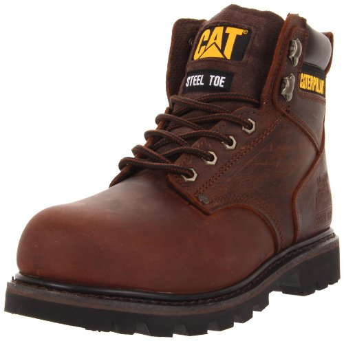 Caterpillar Men's Second Shift Steel Toe Work Boot, Dark Brown, 10.5 W US