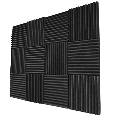 Foamily 12 Pack- Acoustic Panels Studio Foam Wedges 1' X 12' X 12'