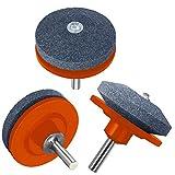 XRS Lawn Mower Blade Sharpener, Lawnmower Blade Sharpener Drill Attachment, Lawn Mower Sharpener for Power Drill Hand Grill, 3 Pack