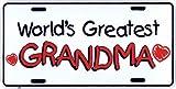 HangTime World's Greatest Grandma Metal License Plate 6 x 12