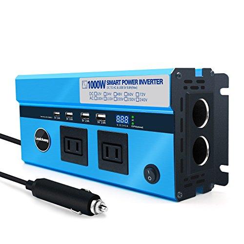 和桜堂 カーインバーター 1000W シガーソケット DC12VをAC100Vに変換 ACコンセント 車載充電器 ディジタル表示
