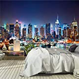 murimage Papier New York 366 x 254 cm colle inclus Photo Mural Manhattan Skyline...
