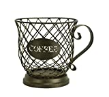 Boston Warehouse Mug Kup Keeper Coffee Pod Storage, 20 Capacity, Oiled Bronze