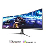 Asus ROG Strix XG49VQ 49 Curved Gaming FreeSync Monitor 144Hz Dual Full HD HDR Eye Care with DP HDMI
