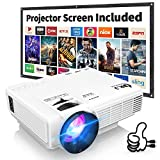 DR. J Professional HI-04 4500L Mini Projector Outdoor Movie Projector, 1080P Supported with 100Inch...