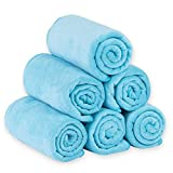 JML Microfiber Bath Towels, Bath Towel Set (6 Pack, 27' x 55') - Extra Absorbent and Fast Drying,Multipurpose Microfiber Towel for Bath, Beach, Pool, Sports, Yoga - Sky Blue