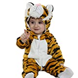 Tonwhar Toddler Infant Tiger Animal Fancy Dress Costume (80(Height:26'-29'/Ages 6-12 Months), Tiger)