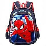 MYYLY Spiderman Lunch Bag Cadeau pour Enfants Sacs À Dos College School Sac Préscolaire...