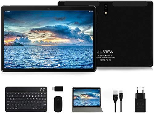 Tablet 10 Pollici Android 10.0 Tablets Ultra-Portatile- RAM 4GB   64GB Espandibile(Certificazione GOOGLE GMS) -JUSYEA- 8000mAh Batteria - WIFI - Mouse   Tastiera e Altro - Nero