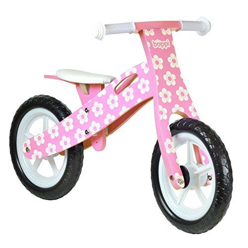 boppi (62 Wooden Balance Bike - Pink Flower