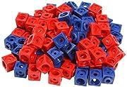Unbekannt Dick-System 170100 100 Steckwürfel, rot/blau
