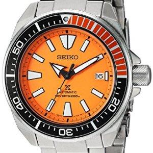 Seiko Men's SRPC07 Prospex Analog Display Automatic Self Wind Silver Watch 44