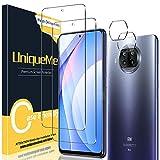 UniqueMe [2+2 Pezzi Vetro Temperato Compatibile con Xiaomi Mi 10T Lite Pellicola Protettiva + [Bubble-Free] Pellicola Fotocamera Compatibile con Xiaomi Mi 10T Lite [Facileinstallare][Durezza 9H].