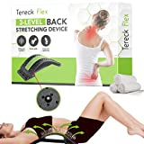 Back Stretcher for Lower Back Pain Relief - 3 Level Lumbar Stretching Device - Back Spine Stretcher - Spine Decompression Back Stretcher Women & Men - Scoliosis - Sciatica - Herniated Disc