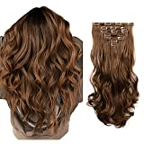 FESHFEN Extension a Clip Cheveux Naturel, 50cm Extension Cheveux Bouclés 7...