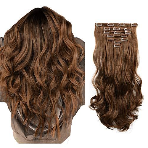 FESHFEN Extension a Clip Cheveux, 50 cm...