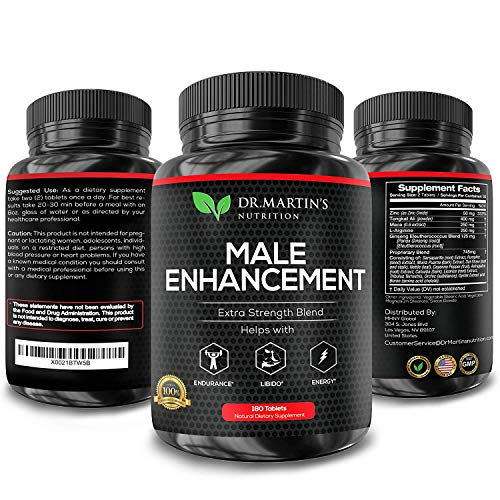 Male Enhancement Supplement | 180 Capsules | 3 Month Supply | Boosts Energy, Testosterone, Endurance & Enhances Muscle Growth | with Gingseng, Maca, Tongkat Ali | Healthy Weight Loss and Fat Burning 4