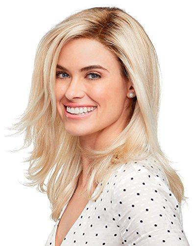 "Miranda Wig Color 24BT18S8 - Jon Renau Wigs 12"" Long Smart Lace Front Welded Monofilament Part Women's Synthetic Natural Hairlline 1"