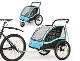 Fiximaster Remorque de vélo 2 en 1 pour enfant - Rotation à 360 ° -...