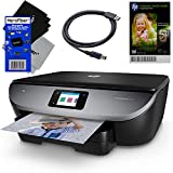 HP Wireless All-in-One Printer Envy 7120 Inkjet Wi-Fi Printer, Scanner & Copier + Ink Cartridges & Optional Instant Ink Subscription + USB Cable, Sample Photo Paper & 2 HeroFiber Cloths