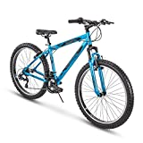 Huffy Hardtail Mountain Trail Bike, 26 inch, 27.5 inch, Satin Tropic Blue, Model Number: 76908
