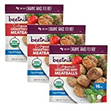 Beetnik Organic Grass Fed Frozen Beef Meatballs   Gluten Free and Premium Quality (Pack of 3, 16 OZ Each)   By Gourmet Kitchn (3 Pack)