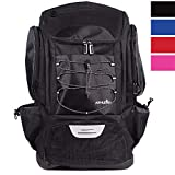 Athletico Swim Backpack - Pool Bag With Wet & Dry Compartments for Swimming, the Beach, Camping and More (Black)