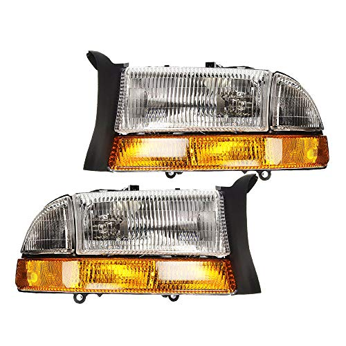 Epic Lighting OE Fitment Replacement Headlights Compatible with 1998-2003 Dakota Durango [CH2502122 CH2503122 55055111AI 55055111AF 55055111AE 55055111AG 55055110AI 55055110AF 55055110AE] Pair