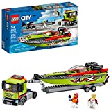 LEGO City Race Boat Transporter 60254 Race Boat Toy, Fun Building Set for Kids, New 2020 (238 Pieces)