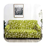 VACHE 1/2/3/4 Seater Modern Sofa Cover Spandex Elastic Polyester Floral Couch Slipcover Chair Living Room Corner Sofa Covers-Color 12-Pillowcase 2 Piece
