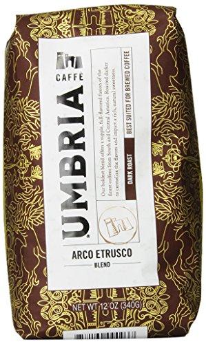 Caffe Umbria Fresh Seattle Whole Bean Roasted Coffee, Arco Etrusco Blend Dark Roast, 12 oz. Bag 2
